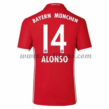 Bayern Munich Fotbalové Dresy 2016-17 Alonso 14 Domáci Dres