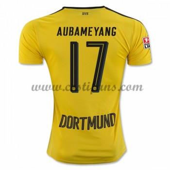 BVB Borussia Dortmund Fotbalové Dresy 2016-17 Aubameyang 17 Domáci Dres