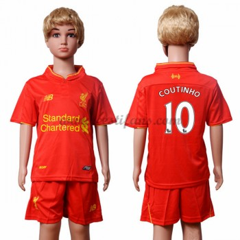 Liverpool Dětské Fotbalové Dresy 2016-17 Coutinho 10 Domáci Dres