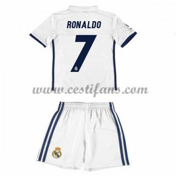 Real Madrid Dětské Fotbalové Dresy 2016-17 Ronaldo 7 Domáci Dres