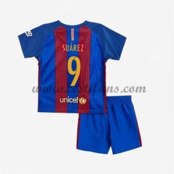 Barcelona Dětské Fotbalové Dresy 2016-17 Suarez 9 Domáci Dres
