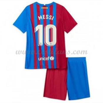 Barcelona Dětské Fotbalové Dresy Komplet 2017-18 Lionel Messi 10 Domáci Dres