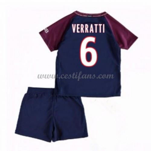 e30a50b972b2f Paris Saint Germain PSG Dětské Fotbalové Dresy Komplet 2017-18 Verratti 24 Domáci  Dres