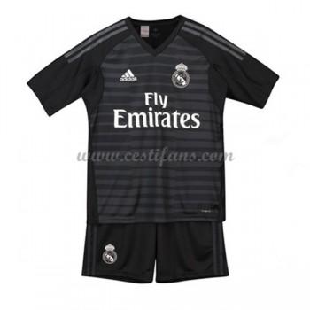 Real Madrid Dětské Fotbalové Dresy Komplet 2018-19 Brankářské Domáci Dres